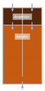 Two parallel anaerobic-aerobic bioreactors