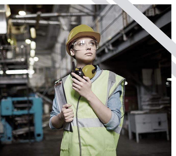 woman in industrial environment