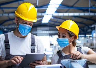 workers in an industrial setting